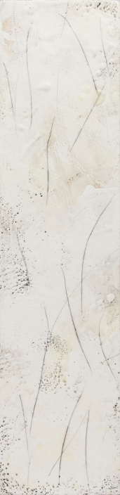 """Sold My Soul// Encaustic (Beeswax and Resin) on Wood Panel- 6x24"""""""