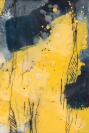 """Untitled // Encaustic (Beeswax and Resin) and Oil Stick on Paper - 5x7"""""""